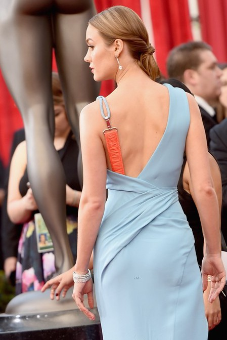 LOS ANGELES, CA - JANUARY 30: Actress Brie Larson attends The 22nd Annual Screen Actors Guild Awards at The Shrine Auditorium on January 30, 2016 in Los Angeles, California. 25650_015 (Photo by Jason Merritt/Getty Images for Turner)