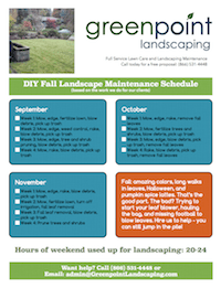 Greenpoint Landscaping - Schedule