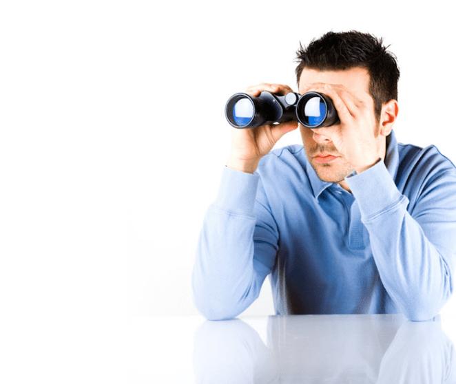 creepy binocular search guy