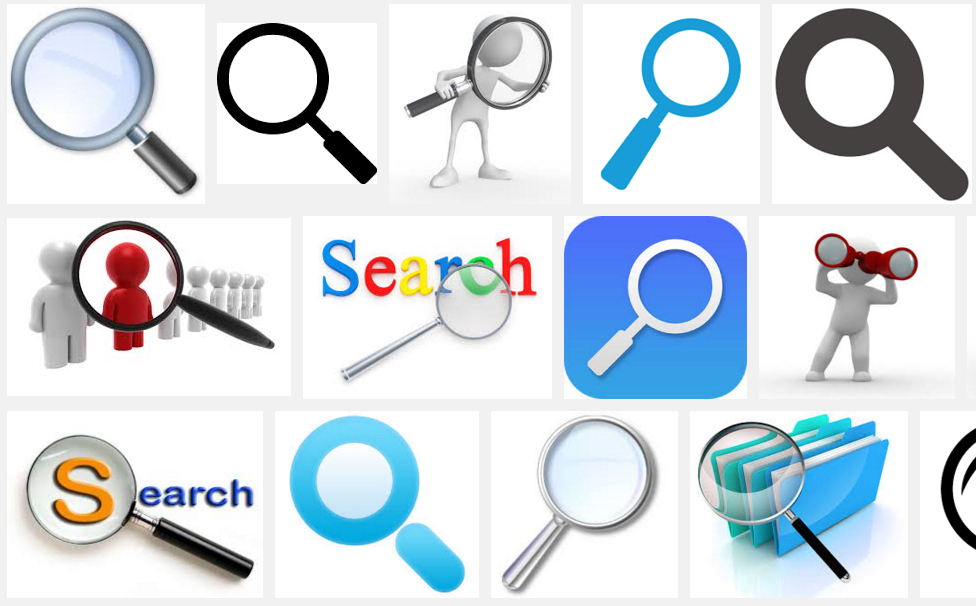 Search Images: Magnifying Glasses, Binoculars & Fingers!