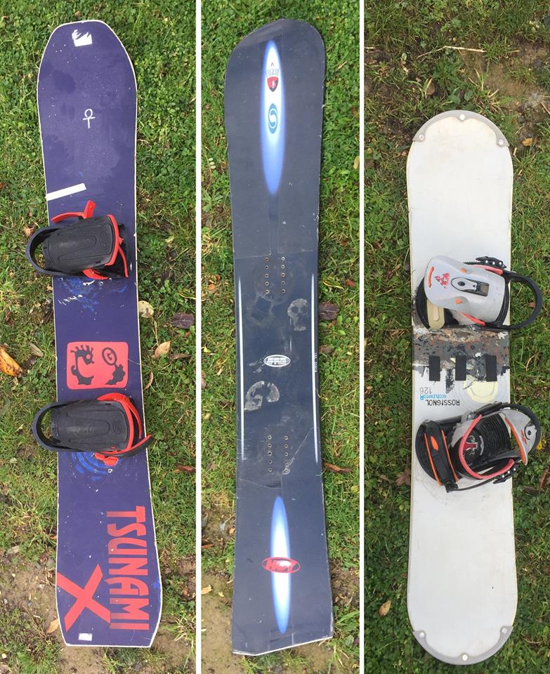 lost snowboards