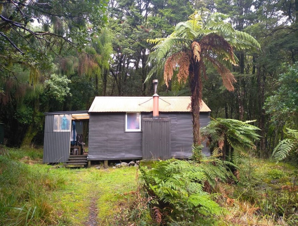 Neill Forks Hut - a welcome shelter for a snack or two.