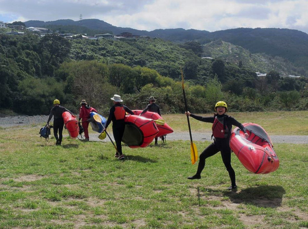Packrafting Hutt and Otaki Rivers