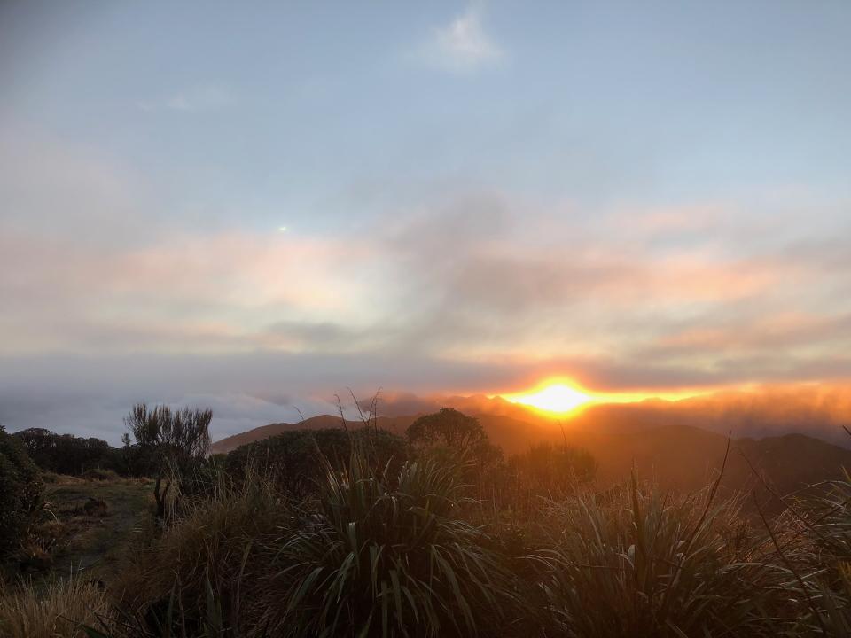 View from Waiopehu Hut at dawn