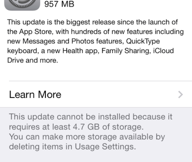 Apples Ios 8 Has Been Plagued With Bugs But Some Of Its Features Are Beneficial It Does Require A Large Amount Of Free Memory To Install