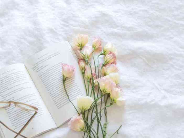 Flower on book image for whatsapp dp