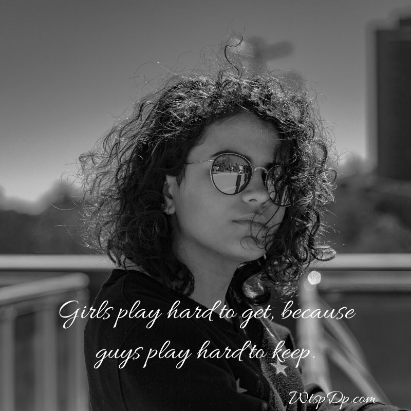 DP for whatsapp profile for girl with quotes