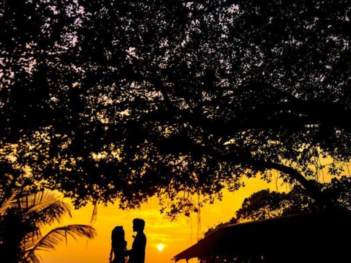 Romantic couple in beautiful nature