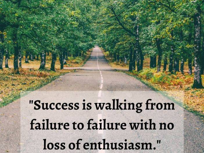 Success is walking from failure whatsapp dp image