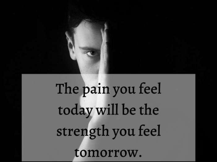 The pain and strength whatsapp dp image