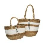 white-line-straw-bag