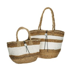 white-line-straw-bag