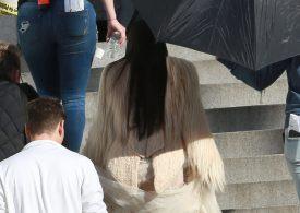 Kim Kardashian on Set at Oceans eight