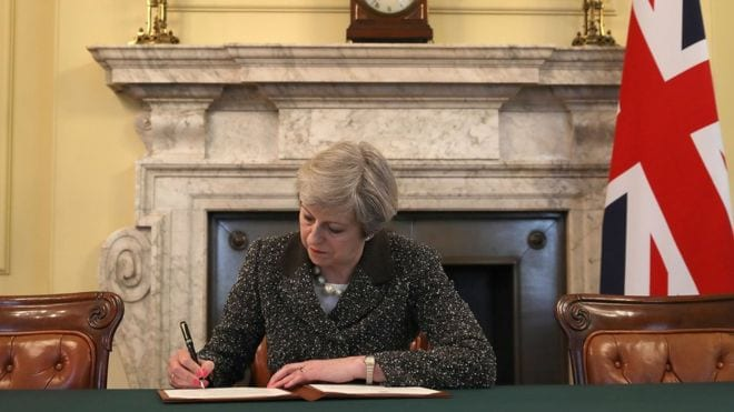 pm signing brexit letter  - WTX News Breaking News, fashion & Culture from around the World - Daily News Briefings -Finance, Business, Politics & Sports