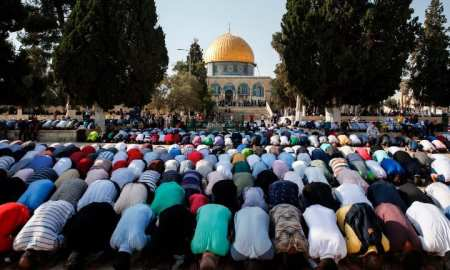 "Israel Imposed a shutdown of the mosque compound is known to Muslims as ""al-Haram al-Sharif"" while Jews call it, ""Temple Mount""."