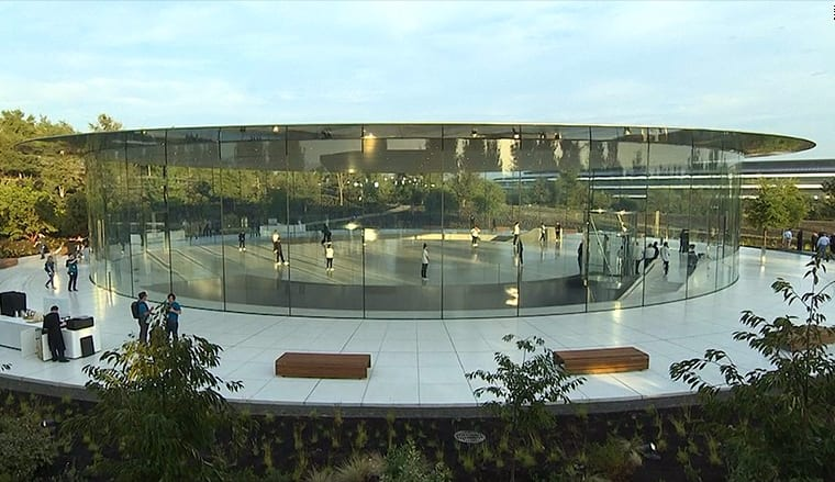 The New Steve Jobs Theatre - where apple unveiled the new iPhone X