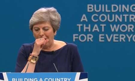 The PM at the Conservative party conference Last week