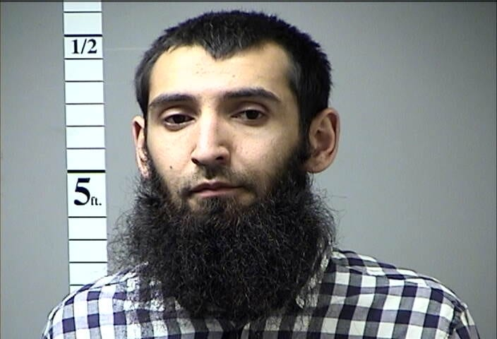 A mug shot from American Media of the New York attacker - when he was arrested last year