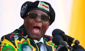 The 93 yr old Zimbabwe's President Robert Mugabe as vocal as ever