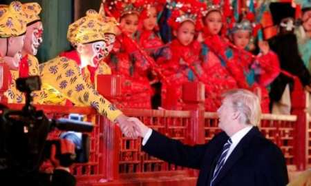 United States President Donald Trumps, State visit to China-Trump and President Xi