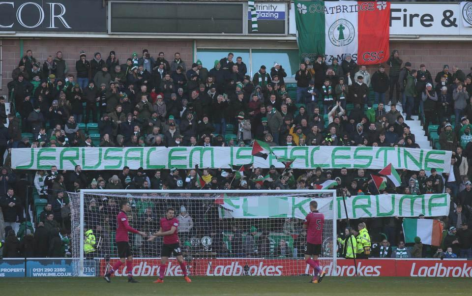 Celtic Football club's supporters hold their protests during Sundays game