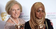 Mary Berry (left) and Nadiya Hussain at the House of Fraser BAFTA TV Awards 2016