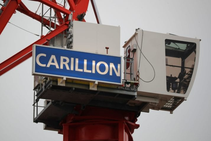 British construction company Carillion on a building site