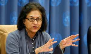 Lawyer and Chairperson of Human Rights Commission of Pakistan, Asma Jahangir.