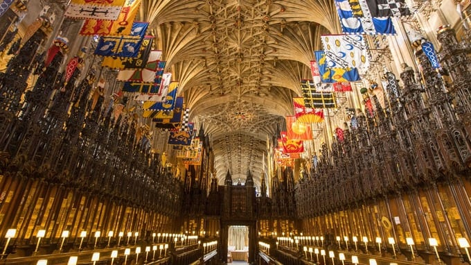 The royal wedding service will begin at 12 noon at St George's Chapel inside the grounds of Windsor Castle.