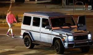 Bieber was on Sunset Boulevard just before 9:00pm in West Hollywood when he was rear-ended by a Range Rover