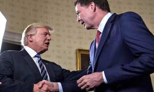 From friend to Foe - U.S. President Donald Trump, left, shakes hands with James Comey, The former director of The FBI
