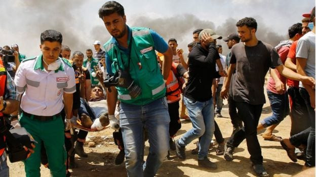 28 Palestinians killed in Gaza protests ahead of embassy opening