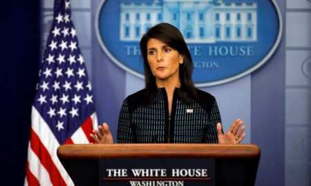 U.S. Ambassador Haley: The US will block any resolution to protect the Palestinians