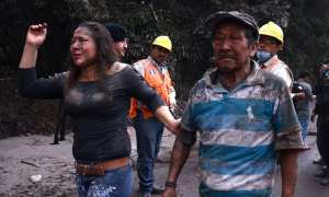 Guatemala volcano - at least 25 dead and hundreds injured as the volcano spews through villages burning people alive