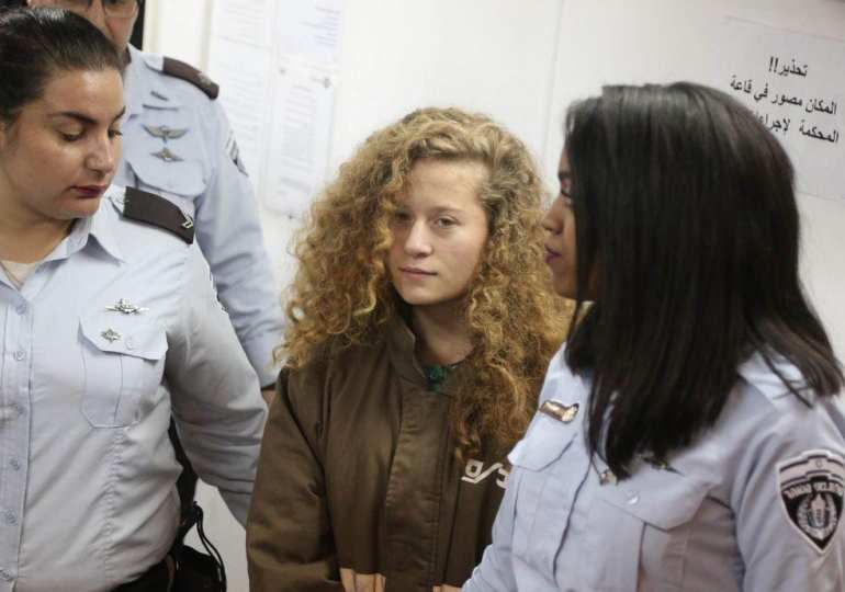 Finally, free, the 17 year old Palestinian released from Israeli Jail