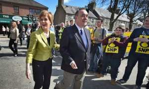 "The current SNP leader Ms Sturgeon said she ""felt a huge sadness about the whole situation""."