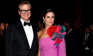 Colin and Livia Firth at the Green Carpet Fashion Awards event during fashion week at Milan's