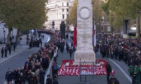 Cenotaph London Armistice Day 11:00 am 11th November