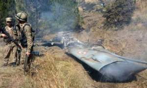 Indian plane shot down in Pakistan
