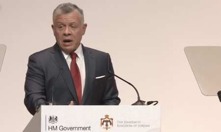 King Abdullah of Jordan at the conference in London