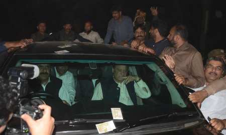A three-member bench accepted an application for interim bail to Sharif