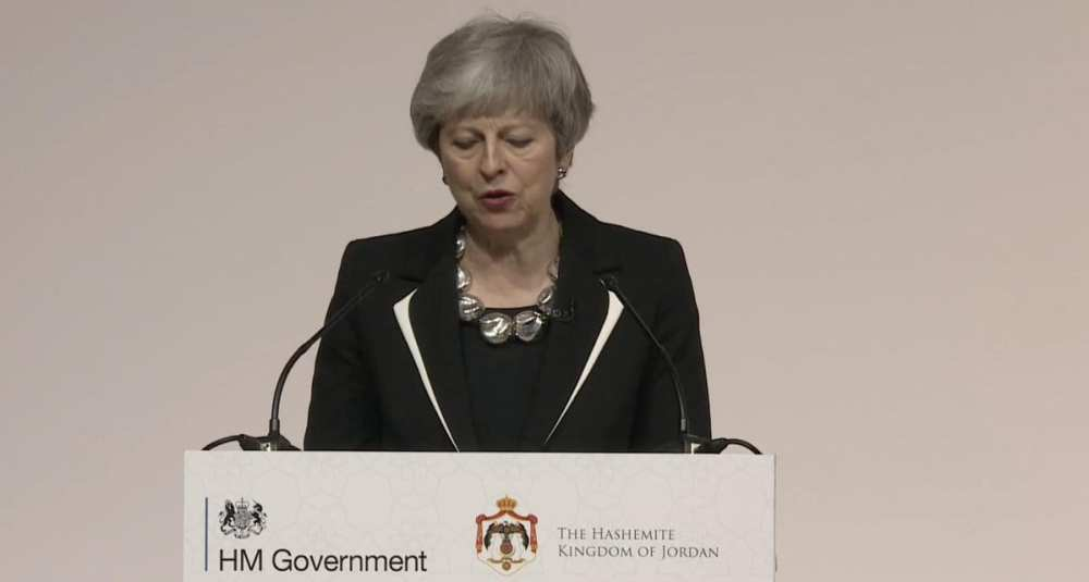 PM Theresa May At the Growth and Opportunity conference with the King of Jordan