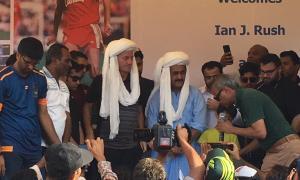 Ian Rush in Karachi Pakistan