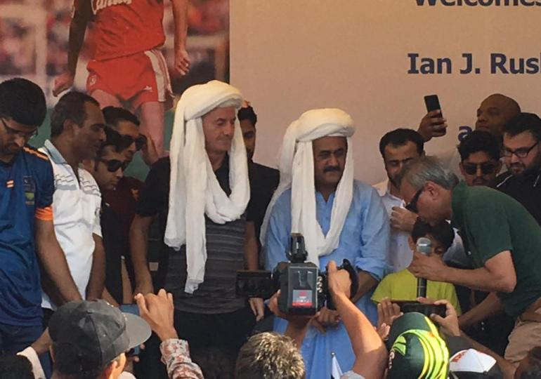 Ian Rush lands in Karachi to inspire the local footballers