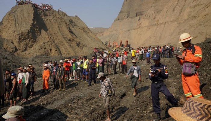 More than 50 feared killed in landslide at Myanmar