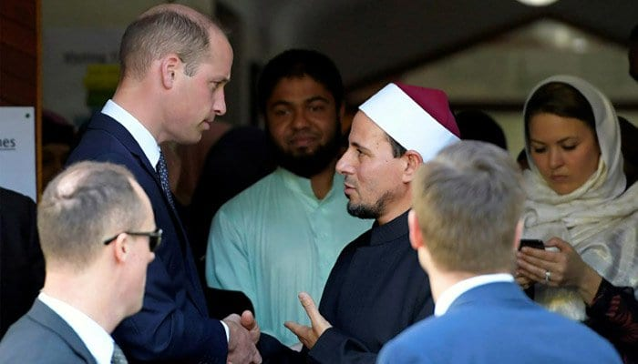 Prince William meets New Zealand mosque survivors