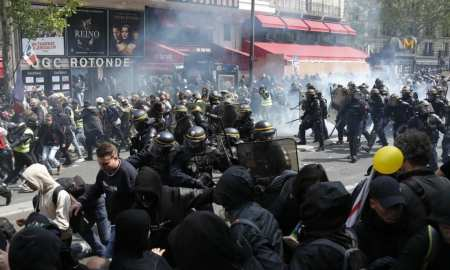 Clashes break out at Paris May Day protests