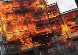 Massive Fire breaks out in east London flats