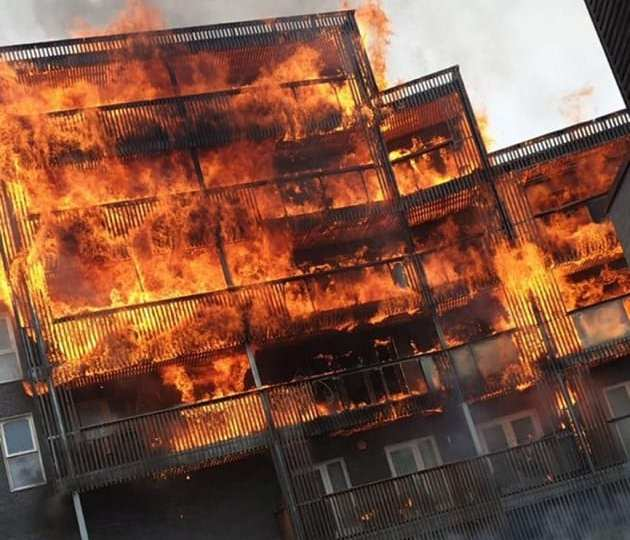 Massive Fire breaks out in east London flats