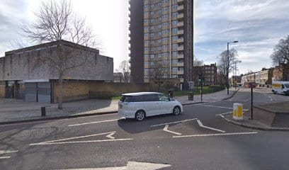 Gooch tower by Lea Bridge roundabout in Lower Clapton, Hackney.